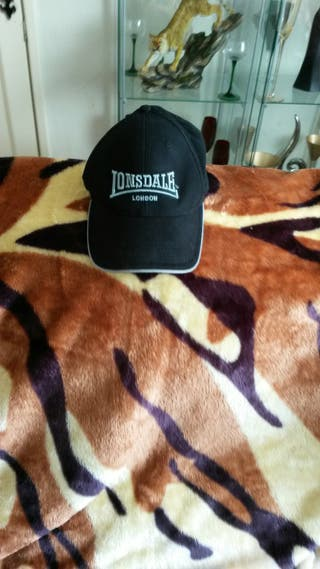 MENS BLACK LONSDALE BASEBALL CAP