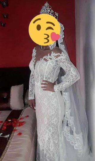 vestido de novia blanco marfil
