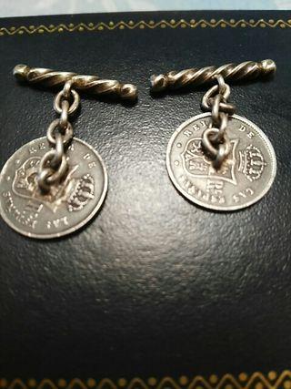 Gemelos de plata Isabel 2