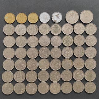 Lote monedas pesetas Juan Carlos I España 1975-88