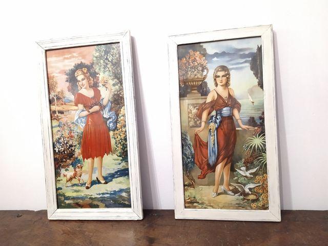 Bonitos cuadros muy antiguos restaurados