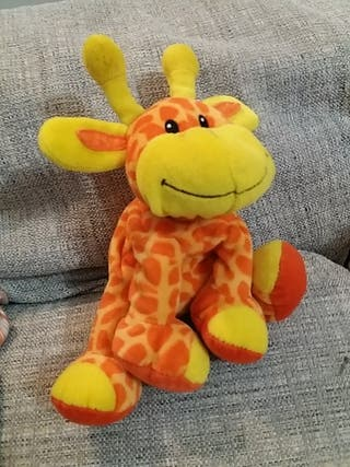 Peluche sonajero jirafa