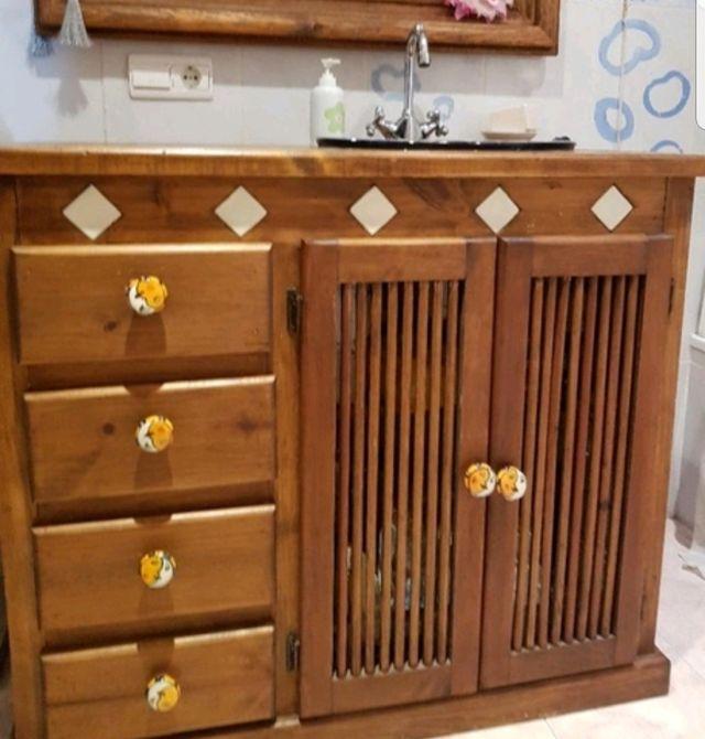 mueble de baño estilo mexicano