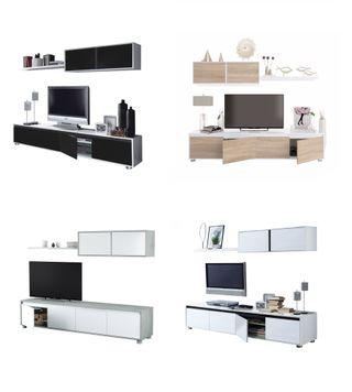 Mueble de televisión inferior + superior de salón