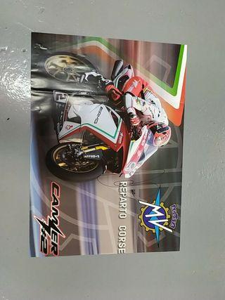 Cuatro pósters MV Agusta SBK Autografiados