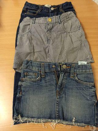 falda y pantalón vaquero 4 años