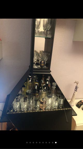 Mueble chimenea bar