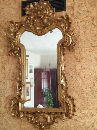Espejo de madera