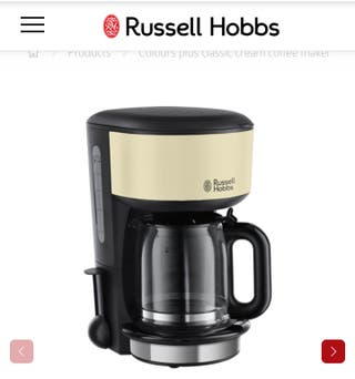 Cafetera Russell Hobbs Colours Plus