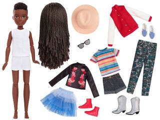 Muñeca articulada,pelucas,rizos,trenzas,accesorios