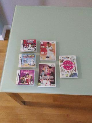 videojuegos nintendo DS y Wii