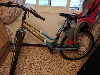 Ocasión, bicicleta adulto Dorada y Celeste