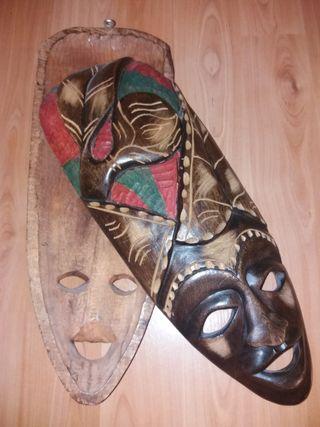 máscaras de madera decorativas africanas