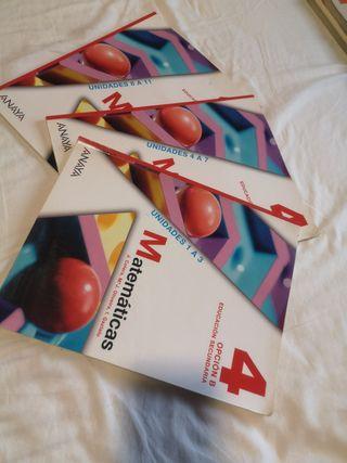 Libros de Matemáticas Aplicadas 4°de la ESO Anaya