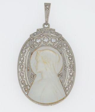Medalla de oro 18 kt con diamantes