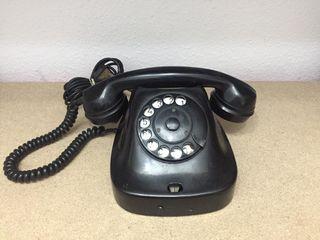 ANTIGUO TELEFONO DE BAQUELITA NEGRO RUSO
