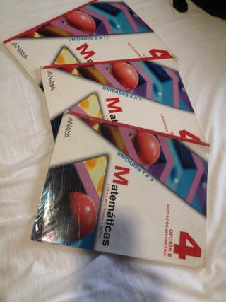 Libro Matemáticas Aplicadas 4°ESO Anaya