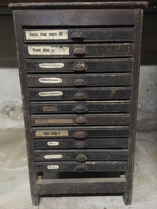 Chivalete mueble de imprenta antiguo