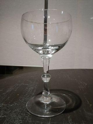 juego de 6 copas de cristal