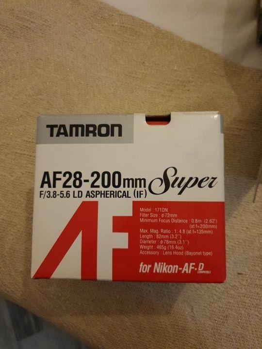 Objetivo Tamron AF28-200 mm f3.8-5.6 LD aspherical