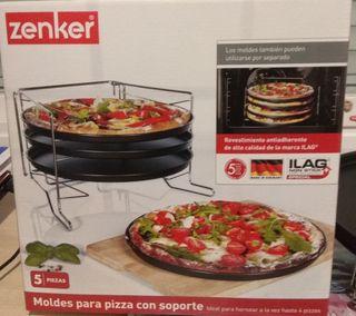 Set moldes para pizzas