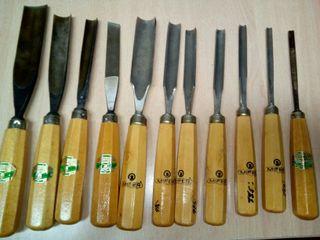 Gubias y formones para trabajar la madera