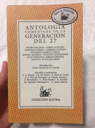 Antología comentada de la generación del 27