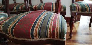 6 sillas tapizadas