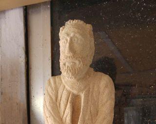 Miguel de Unamuno. Escultura en piedra. Decoración
