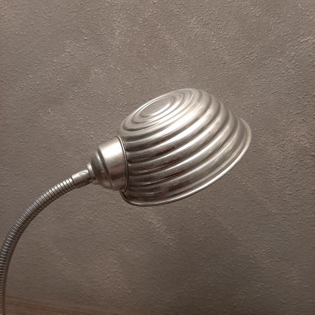 Lampara Italiana Flexo Aluminio Plateado