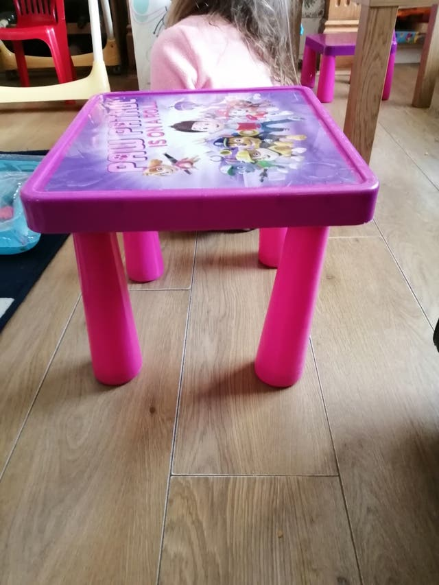 paw patrol table
