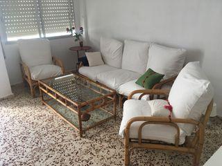 Conjunto dos sillones y sofás rústicos o playa