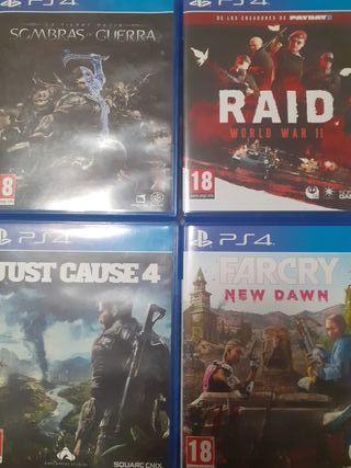 Combo de juegos PS4