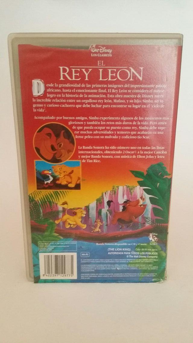Pelicula vhs Disney El Rey Leon