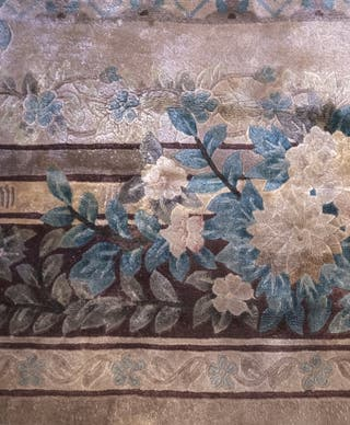Alfombra de seda china hecha a mano