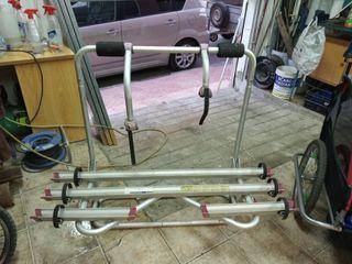 soporte para tres bicicletas ,de lanza de caravana