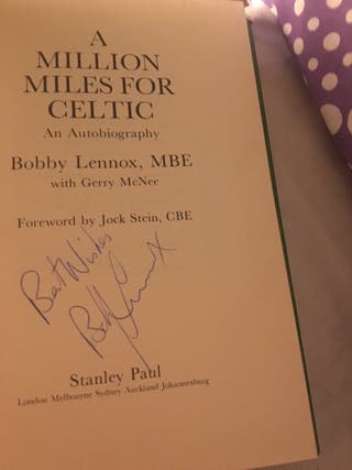Signed Celtic bobby Lennox book