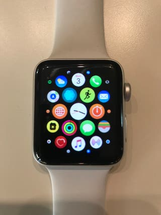 iWatch Apple Serie 3 Plata correa blanca