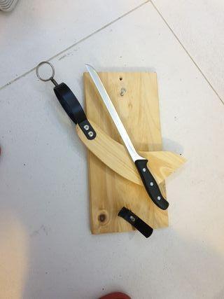 para cortar jamón
