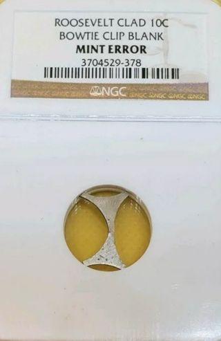 moneda con error 10 centavos NGC
