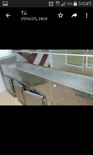 vitrina de carnicería de acero inoxidable