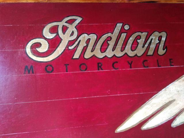 Cartel madera Indian Motorcycle