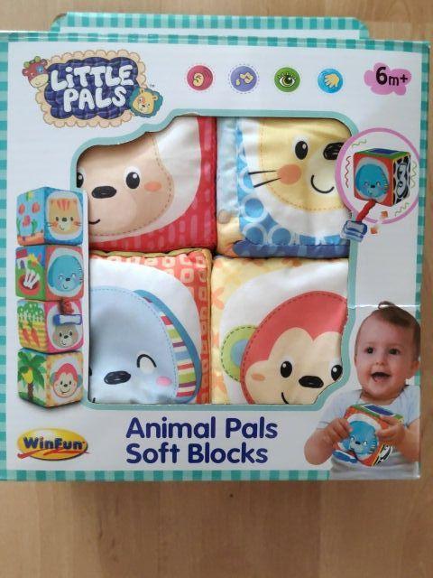 Juguete bebé cubos blandos tela