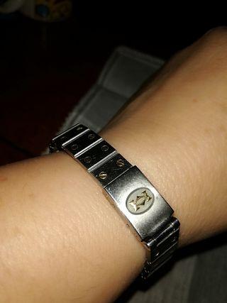 pulsera oro y acero Cartier para Santos mujer
