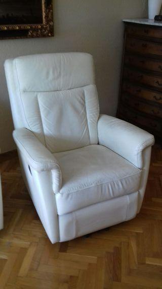 sillón de piel electrico