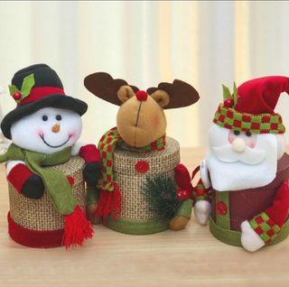Cajitas de navidad con chocolatinas y chuches