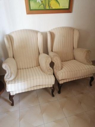 sillón tipo colonial