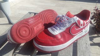 Nike air force 1 07 lv8 red white university