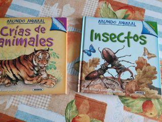 """Libros colección """"Mundo animal"""" (2 libros)"""