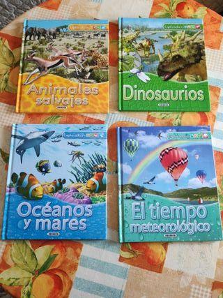 """Libros colección """"Exploradores"""" (4 libros)"""